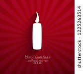 White Vector Candle With Long...