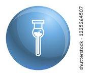 modern test tube icon. simple...