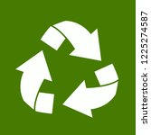 recycle logo vector isolated on ... | Shutterstock .eps vector #1225274587