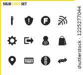 interface icons set with delete ... | Shutterstock .eps vector #1225277044