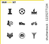 exercise icons set with start ...