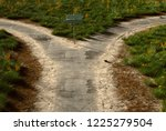 road with a turnoff  3d... | Shutterstock . vector #1225279504