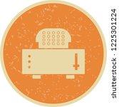 slice toaster vintage icon   Shutterstock .eps vector #1225301224
