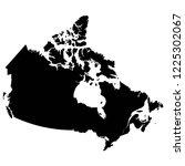 black illustration map of canada | Shutterstock .eps vector #1225302067