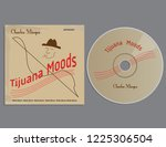 cd and cover template   vector... | Shutterstock .eps vector #1225306504