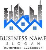 logo template real estate ... | Shutterstock .eps vector #1225308937