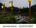 wooden traditional wood boats... | Shutterstock . vector #1225313587