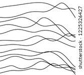 hand drawn irregular wavy... | Shutterstock .eps vector #1225326427
