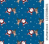 seamless pattern of christmas... | Shutterstock .eps vector #1225338631