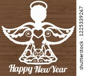 stencil angel for laser cutting | Shutterstock .eps vector #1225339267