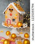 homemade christmas gingerbread...   Shutterstock . vector #1225355794
