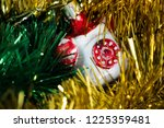 christmas toy phone | Shutterstock . vector #1225359481