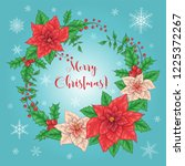 christmas card  a banner with a ... | Shutterstock .eps vector #1225372267