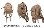 tactical backpack isolate on... | Shutterstock . vector #1225374271