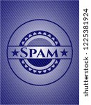 spam jean or denim emblem or...   Shutterstock .eps vector #1225381924
