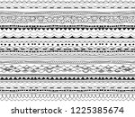 seamless borders  dividers ... | Shutterstock .eps vector #1225385674