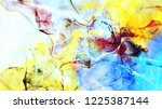 bright dynamic background.... | Shutterstock . vector #1225387144