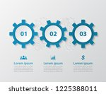 step by step infographic.... | Shutterstock .eps vector #1225388011