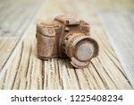 photo camera made of dark... | Shutterstock . vector #1225408234