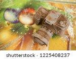 photo camera made of dark... | Shutterstock . vector #1225408237