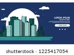 modern metropolis city with... | Shutterstock .eps vector #1225417054