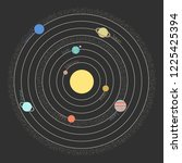 the model of the solar system... | Shutterstock .eps vector #1225425394