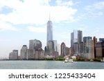 downtown manhattan seen from... | Shutterstock . vector #1225433404