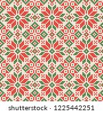 ugly sweater merry christmas... | Shutterstock . vector #1225442251