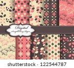 set of flower vector paper for... | Shutterstock .eps vector #122544787