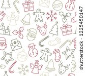christmas icons seamless... | Shutterstock .eps vector #1225450147
