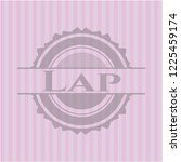 lap badge with pink background | Shutterstock .eps vector #1225459174