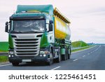 tanker storage truck on the... | Shutterstock . vector #1225461451