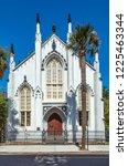 huguenot church in charleston ... | Shutterstock . vector #1225463344