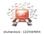 coding  programmer  laptop ... | Shutterstock .eps vector #1225469854