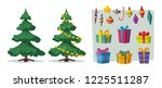beautiful christmas tree.... | Shutterstock .eps vector #1225511287