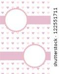 light colored valentine card | Shutterstock . vector #122551711