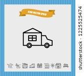 automobile icon vector | Shutterstock .eps vector #1225525474
