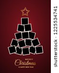 christmas tree with empty...   Shutterstock .eps vector #1225534741