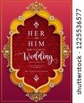 wedding invitation card... | Shutterstock .eps vector #1225536577
