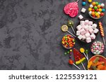 Variety Of Colorful Candies On...