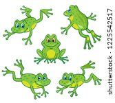 Set Of Five Funny Little Frogs...