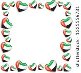 uae flag background with hearts ... | Shutterstock . vector #1225556731
