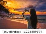 summer lifestyle traveler woman ...   Shutterstock . vector #1225559974