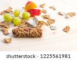 homemade granola bars with...   Shutterstock . vector #1225561981