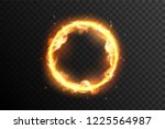 fire circle. ring of fire flame.... | Shutterstock .eps vector #1225564987