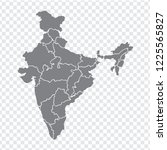 blank map india. high quality... | Shutterstock .eps vector #1225565827