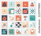 vector christmas advent...   Shutterstock .eps vector #1225570081