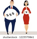 businessmen and businesswoman... | Shutterstock .eps vector #1225570861