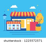 people online buying | Shutterstock .eps vector #1225572571