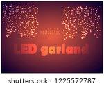 led lights background. vector... | Shutterstock .eps vector #1225572787